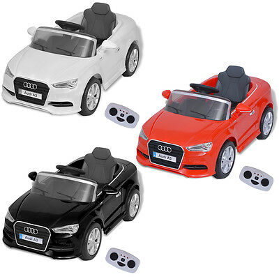 Children Kids Electric Ride-on Car with Remote Control Audi A3 Red/Black/White