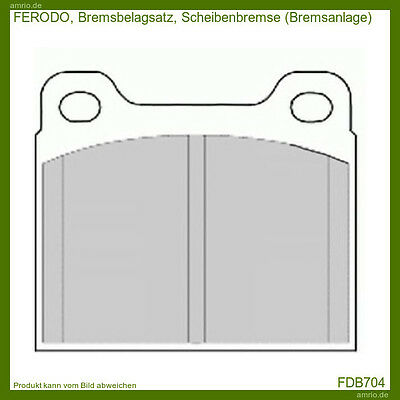 FDB704 Ferodo Set of brake pads, Disc brake