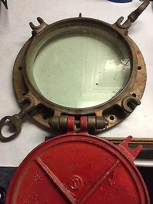 Ships Porthole Maritime Brass Nautical Glass Window With Hatch Bolts/cover