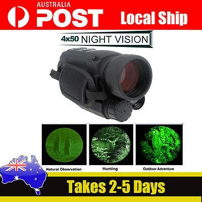 AU! Infrared Night Vision IR Monocular Scope 200m 4.5X40 Zoom Record DVR Photo