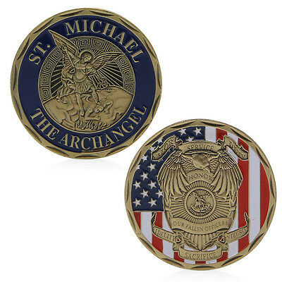 Saint Michael The Archangel Commemorative Challenge Coin Collection Token Gift