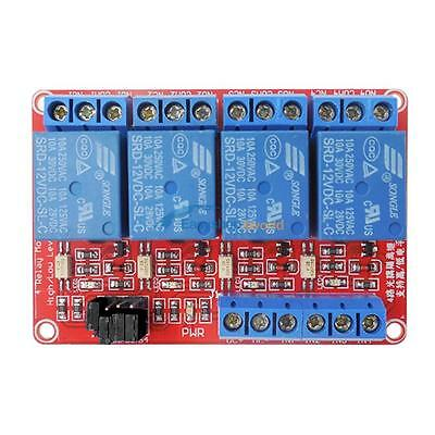 4-Channel 12V 5mA Relay S1~S4 Module Optocoupler H/L Level Triger For Arduino E5