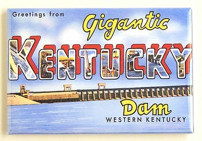 Greetings from Kentucky Dam FRIDGE MAGNET (2.5 x 3.5 inches) travel state