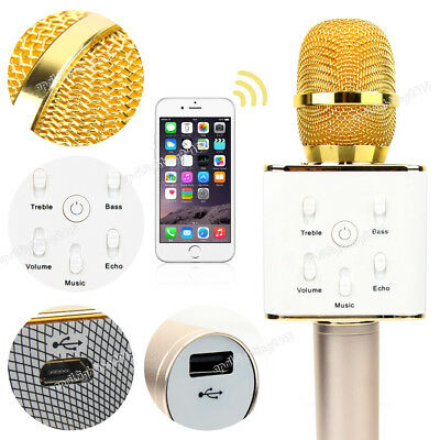 Q7 Handheld Wireless Microphone Bluetooth KTV Karaoke Speaker iPhone Android