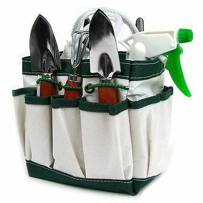 7-in-1 Plant Care Garden Tool Set Organizer Tote Kit Lawn Yard Bag Carrier
