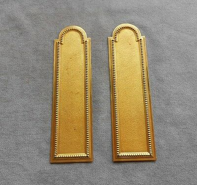 Pair of old French BRASS plaques push Plates