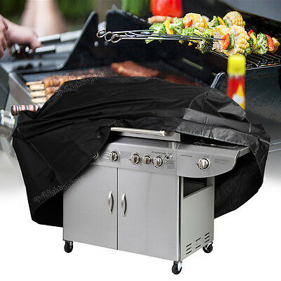 BBQ Cover 2 Burner Waterproof Garden Charcoal Gas Barbecue Grill Protector 145cm