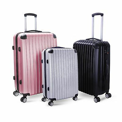 Milano 3 Piece Slim Line ABS Luggage Set with combination locks