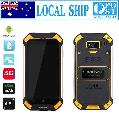"""4.5"""" Discovery Nut1 Rugged Android 3G Smartphone Waterproof Quad Core Cell Phone"""