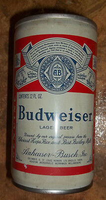 Budweiser 12 Fl Oz., Anheuser-Busch, vintage steel pull tab style beer can