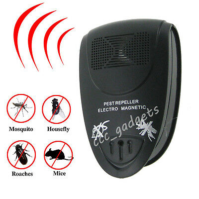 AU Plug In Ultrasonic Pest Repeller Reject Rat Mouse Insect Repellent Rodent Bug