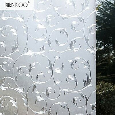 Privacy Static Cling Window Film Glass 3D Self Adhesive No Glue Office Home Deco