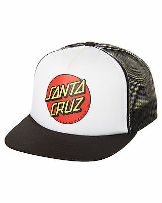 New Santa Cruz Boys Kids Boys Classic Dot Trucker Cap Cotton Mesh Black