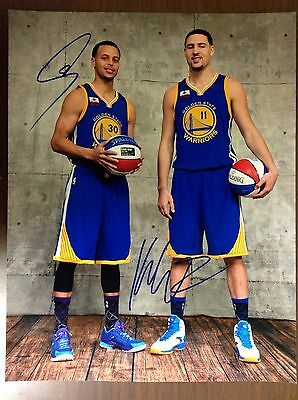 STEPH CURRY and KLAY THOMPSON AUTOGRAPHED/SIGNED 11x14 PHOTO