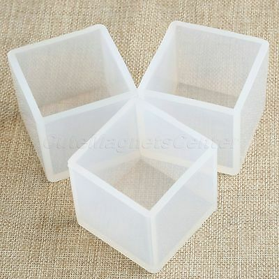 Clear Silicone Pendant Mold For Resin Casting Jewelry Making Craft Tool Cube