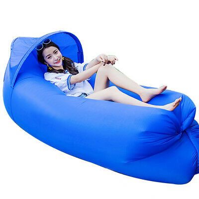 Outdoor Lazy Couch Air Sleeping Sofa Lounger Bag Inflatable Camping Bed Portable