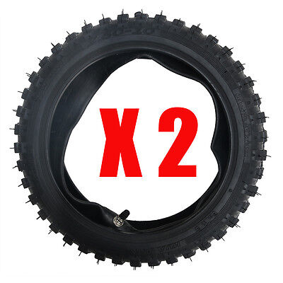 2 Set 2.5 x 10 (2.5-10) Tire Tyre & Tube For SCOOTER DIRT Bike PIT POCKET BUGGY