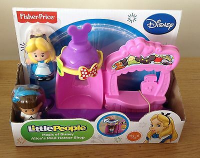 Fisher-Price Little People Disney Alice's Mad Hatter Shop + 2 Figures