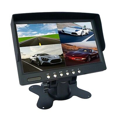 7 inch Car Rear View 1/ 2/ 4 Screen Split Monitor FOR CAR Rear View Camera CA