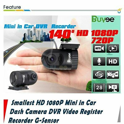 Smallest HD 1080P Mini in Car Dash Camera DVR Video Register Recorder G-Sensor