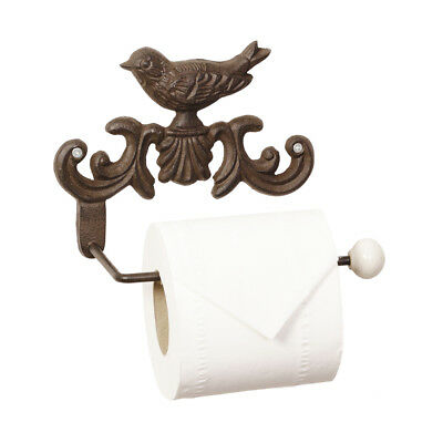 Vintage Style Cast Iron Antique Brown Wall Mounted Toilet Roll Paper Holder