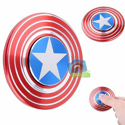 Captain America Spinner Fidget Hand Finger Focus Toy EDC Pocket ADHD Autism【UK】