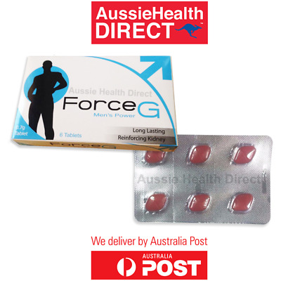 FORCE G Premature Ejaculation Delay Pills Longer Lasting Sex PE treatment 6PK AU