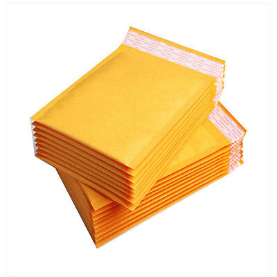 100 Envelopes Mailing Bag Gold Brown Yellow Padded, Bubble Lined Post Bags UK