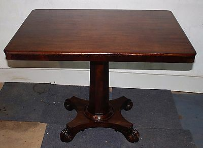 Antique Regency quality mahogany small table dining breakfast flip up 1820