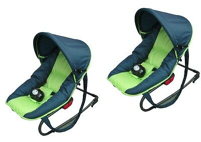 LOT de 2 Transats bébé musical GREENSTAR pliable capote protection soleil