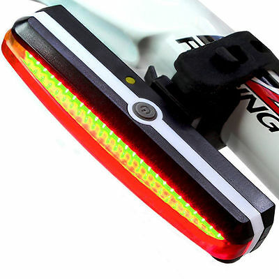 USB Rechargeable LED Bicycle Bike Cycling Front Rear Tail Light 6 Modes Lamp up
