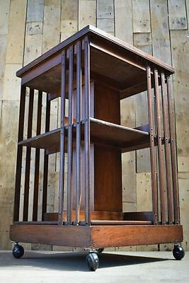 Vintage Antique Edwardian Revolving Bookcase