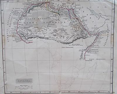 Map of Ancient Africa  1845 Arrowsmith. Nile. EGYPT