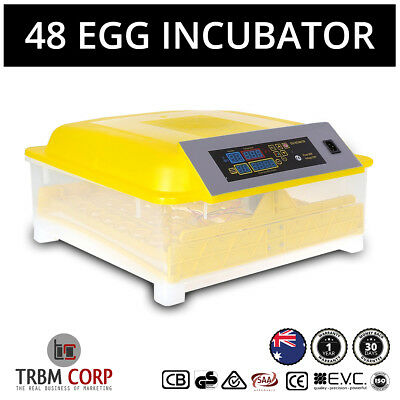 48 Egg Incubators NEW Fully Automatic LED Digital Controls Turn Temp Humid Multi
