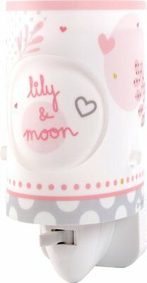 Lily & Moon 62495 Luce Notturna Teddy Cuore Rosa Per Cameretta (W2C)