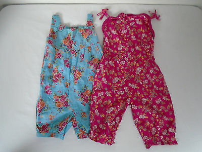 MONSOON Baby Girls Playsuit Bundlle Summer All in One Age 12-18 Months