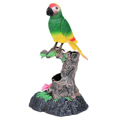 For Kids Funny Talking Parrot Electric Toy Christmas Gift Present + Pen Holder