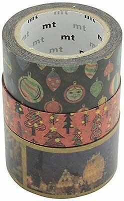 MT Masking Tape MTCMAS41Z Set Christmas 2014 B Set da 3 Nastri in Carta (f2U)