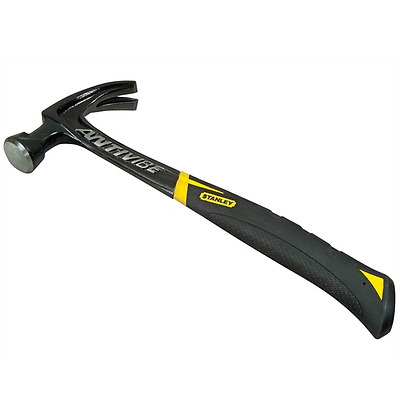 Stanley 570-Gram Fat Max Anti-Vibe All Steel Curved Claw Hammer Milled Face Tool
