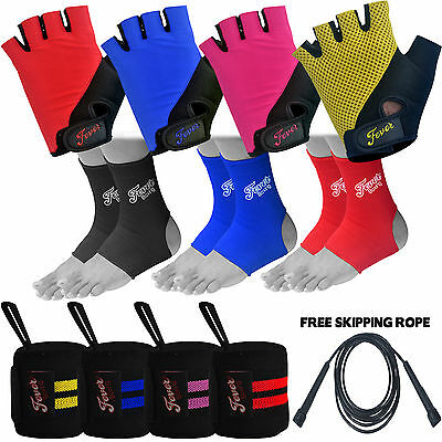 Men Cycling Gloves Half Finger Padded Finger less Ankle/Wrist Supports FREE GIFT