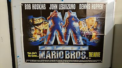 Super Mario Brothers Original UK Quad Movie Film Poster 1993 Rare