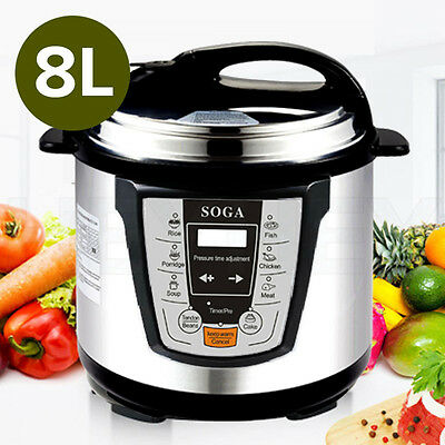2016 Stainless Steel Electric Pressure Cooker 8L NonStick 1000W 1 YEAR WARRANTY