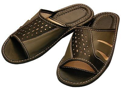 Mens Slippers - Size 40-46 - Real leather - slippers,slippers - XC 66