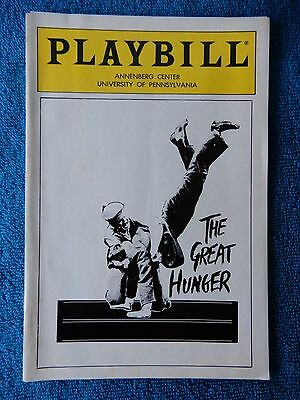The Great Hunger - Zellerbach Theatre Playbill - March 1988 - Tom Hickey