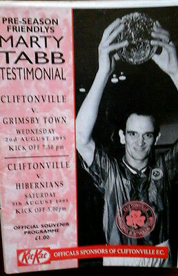 Cliftonville V Hibs / Grimsby 1995 Friendlies Double Issue
