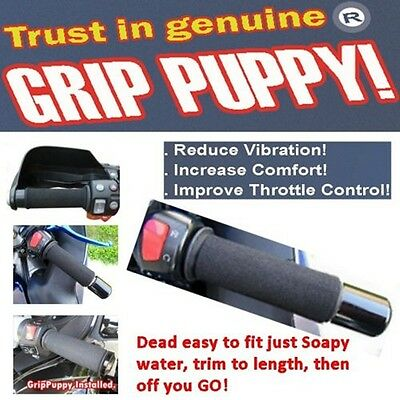 Grip Puppy puppies motorcycle & scooter handlebar grip covers improved comfort