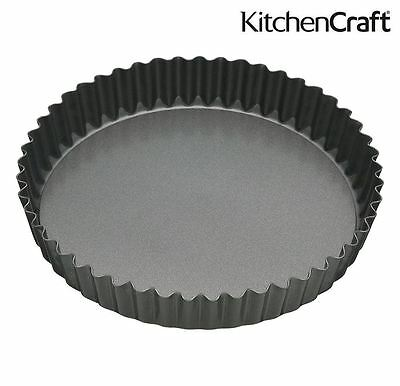 MasterClass Fluted Flan Tin Quiche Pan with Loose Base 30cm