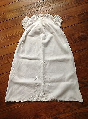 Antique Christening Gown Hand Embroidered