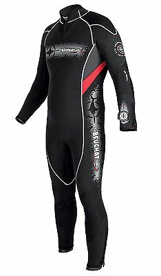 brand new MENS beuchat comfort 4 7mm semi dry scuba dive diving WETSUIT  x-large