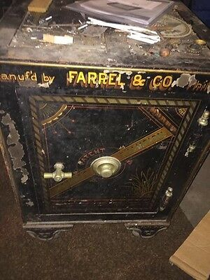 antique safe have combination great character.